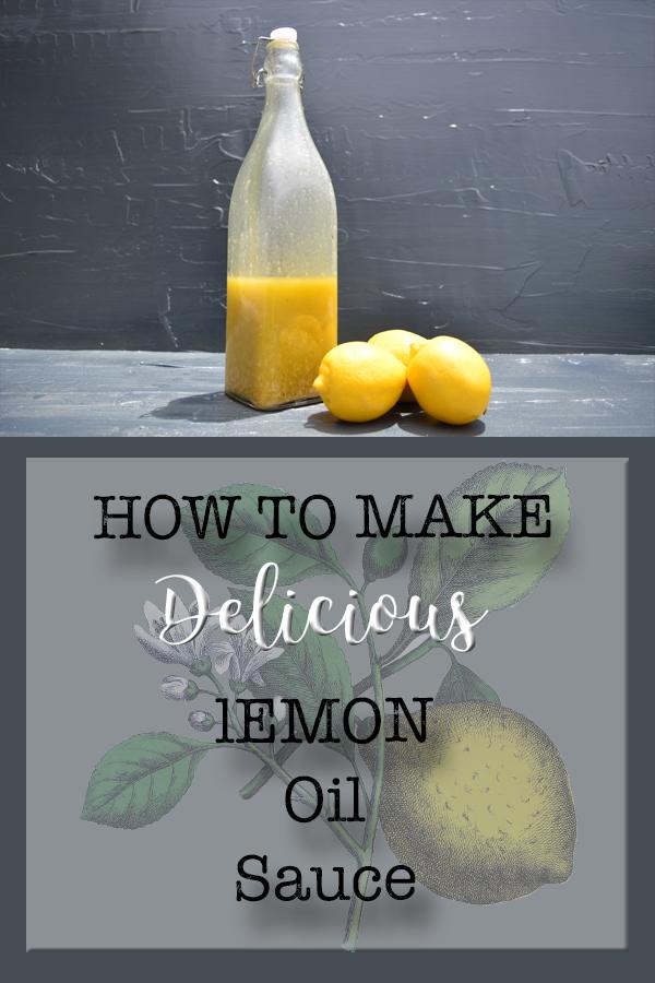 How To Make Lemon Oil Sauce I 5DogFarm