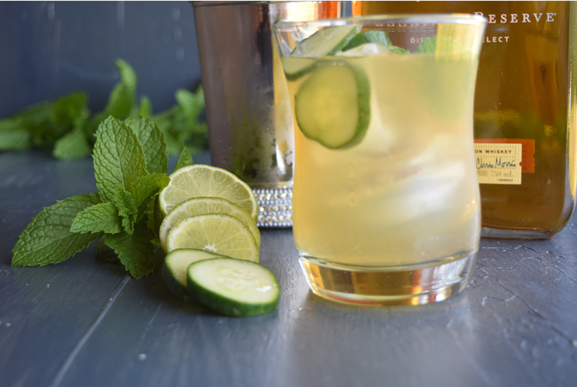 bourbon drink and mint
