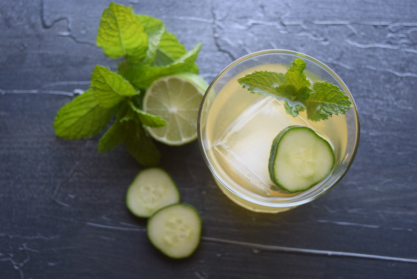 top view of kentucky maid drink