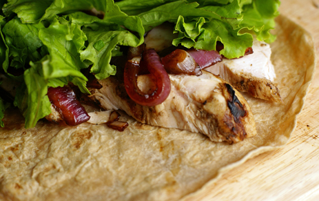 balsamic onion wraps Chicken Wraps with Balsam melized Red Onions