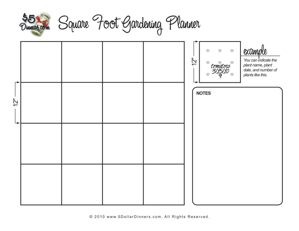 Free Gardening Planner Printables