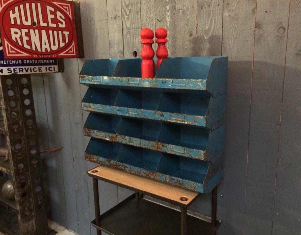 ancien casiers en metal empilables