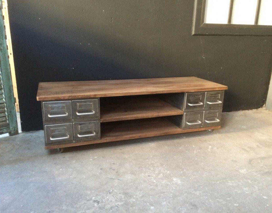 meuble tv industrielle