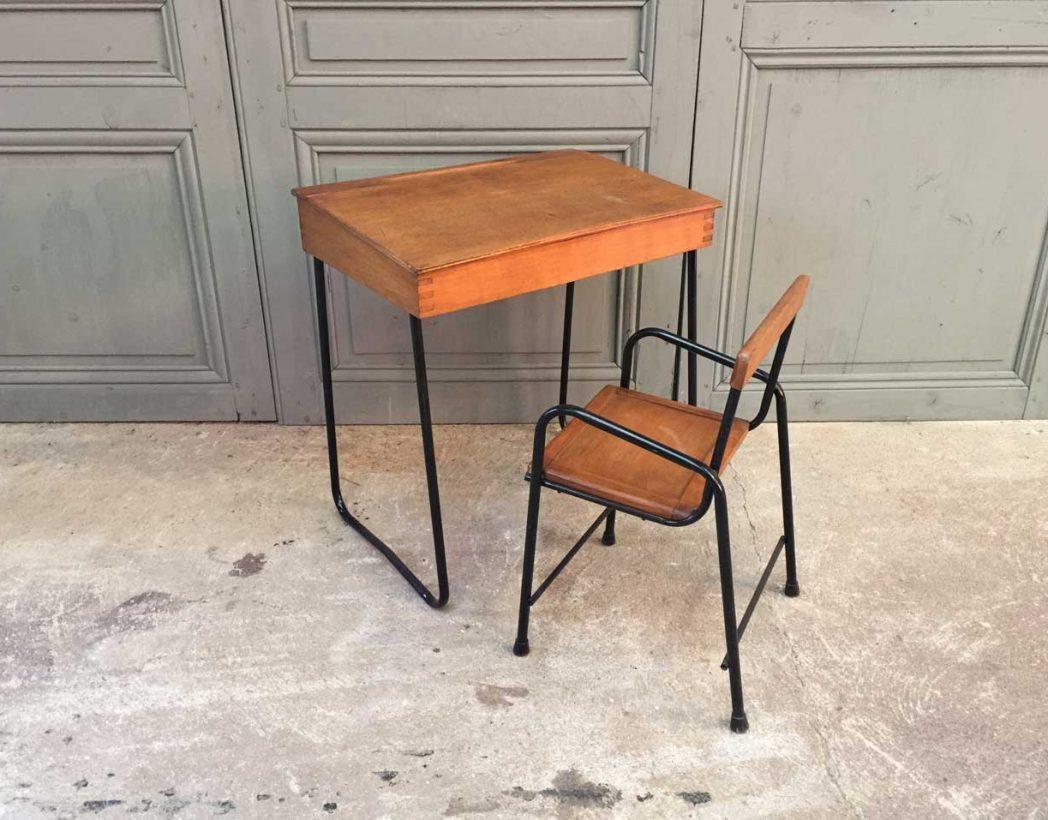 bureau chaise enfant vintage 5francs 2