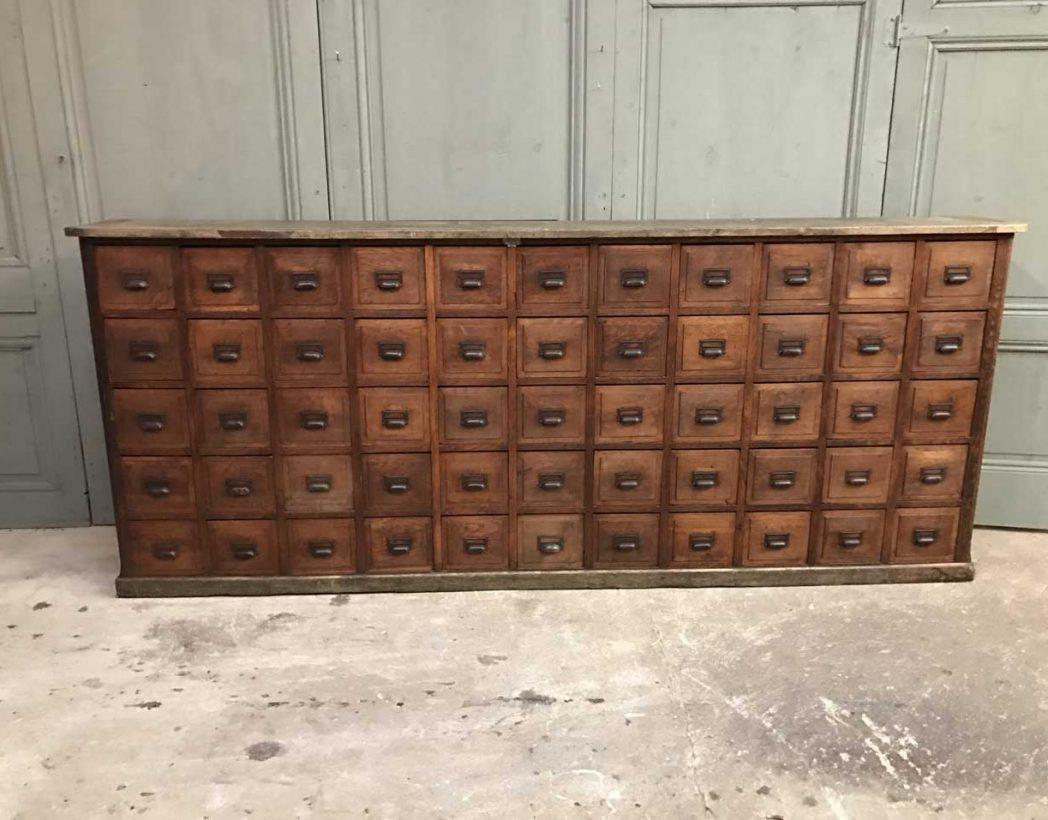 ancien grand meuble de metiers 55 tiroirs