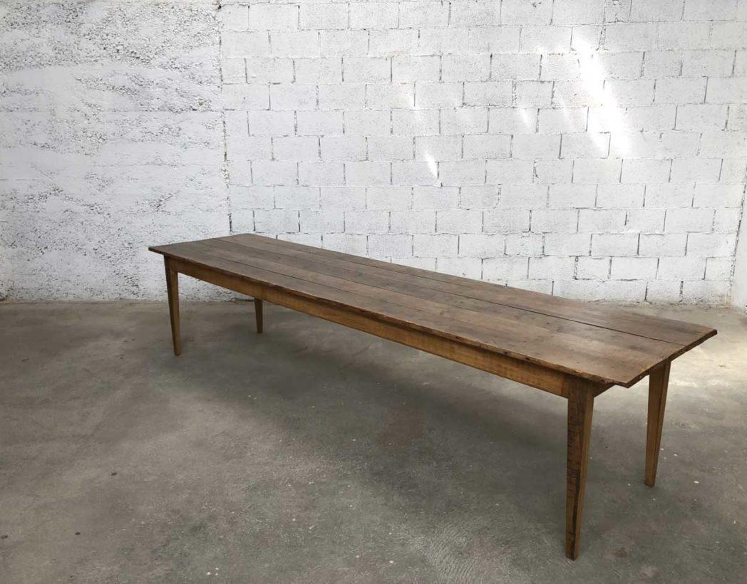 rare ancienne tres grande table de ferme 340 cm de long