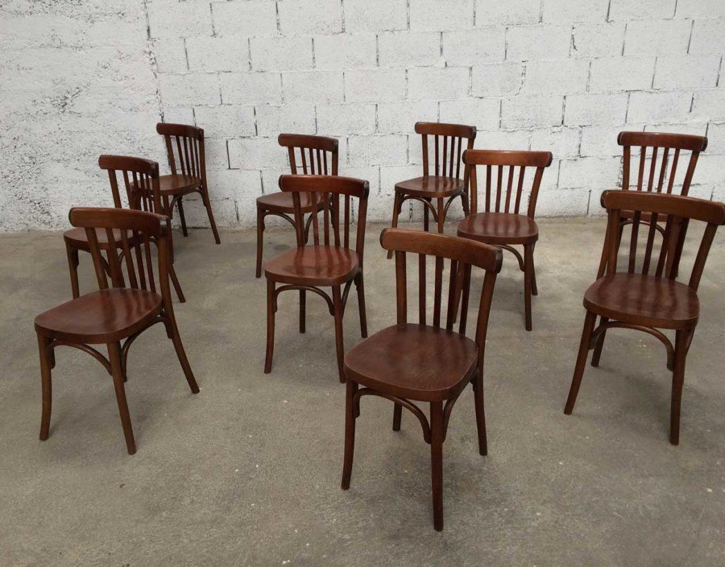 lot de 70 chaises de bistrot macorest annee 70