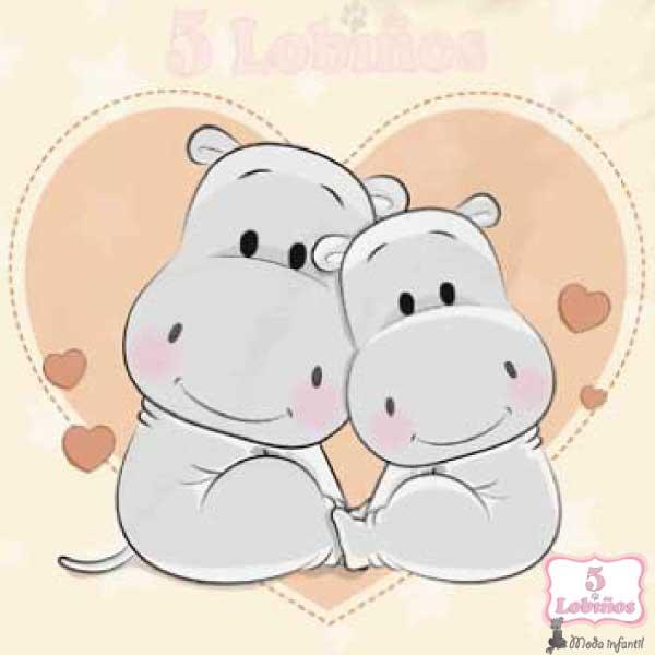 manta cuna beig hipopotamos. 1