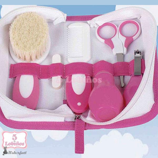 neceser higiénico bebe rosa 1