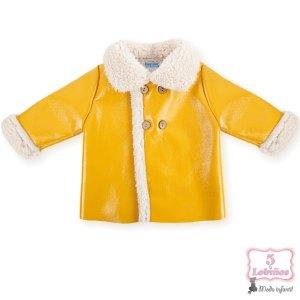 abrigo bebe mac ilusion brillante mostaza otoño invierno 2021