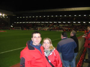 At the Liverpool game