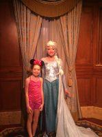 This time she got to meet Elsa & Anna