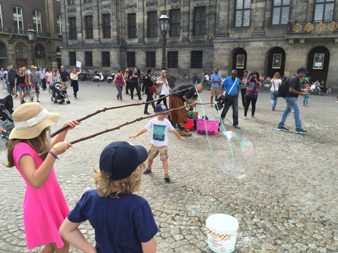 Bubbles at Dam Square