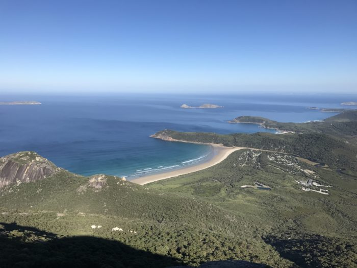 View of Squeaky Beach from Mt Oberon