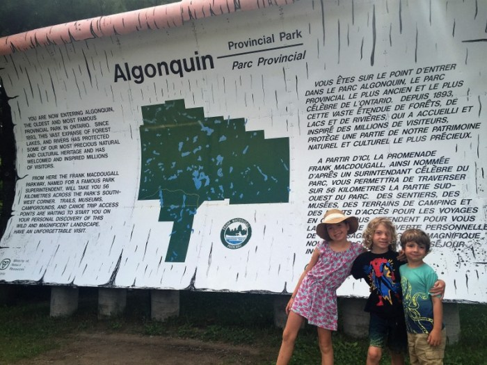 Algonquin Park with kids