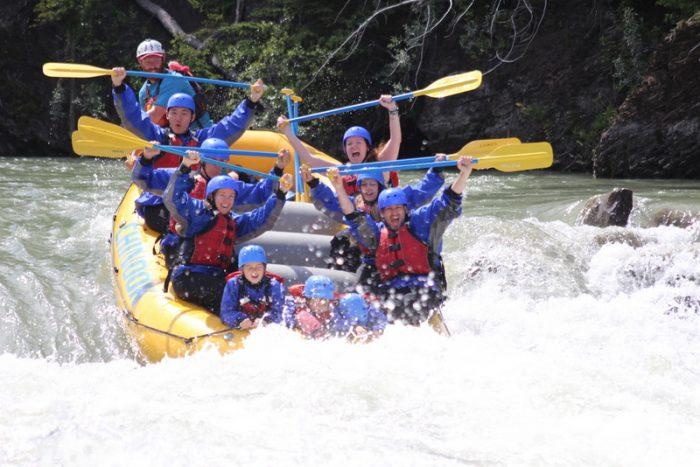 adventure with kids Banff