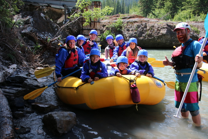 Banff white water rafting