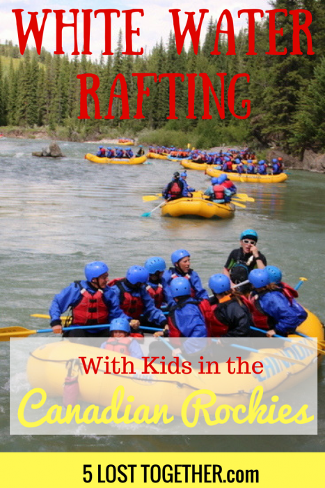 White water rafting with kids Canadian Rockies