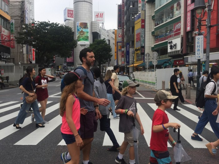 Shibuyu with kids
