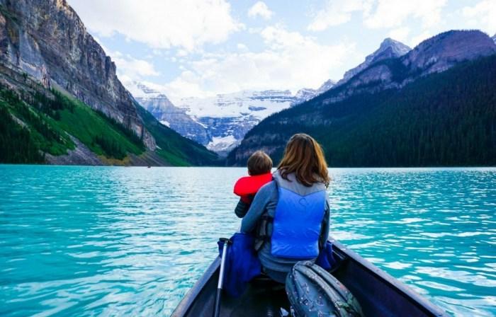 Lake Louise with kids