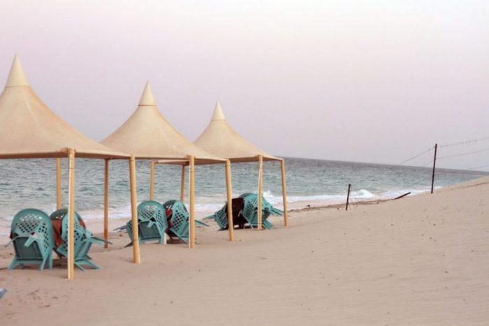 Doha beachside huts