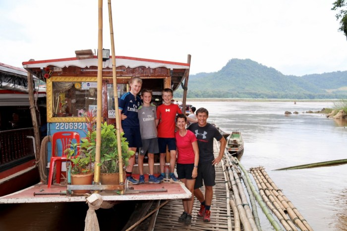 Taking a slow boat up the Mekong in Laos