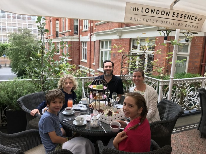 afternoon tea with kids in London
