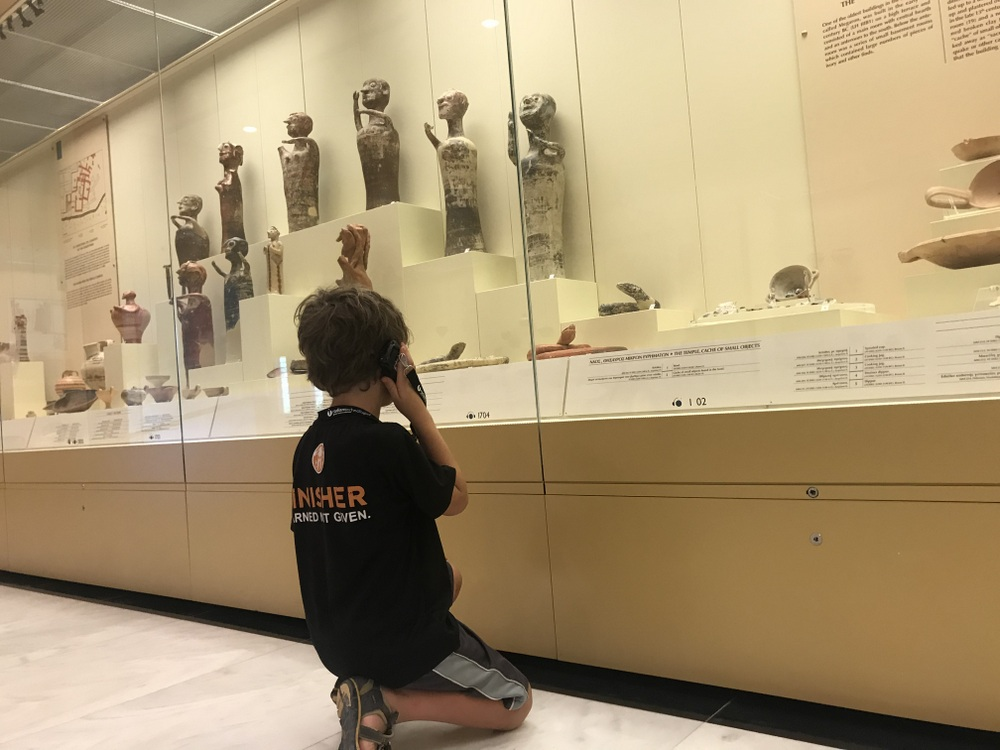 Mycenae Museum with kids