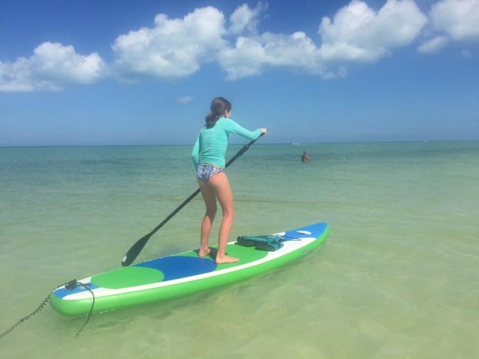 paddleboarding Holbox