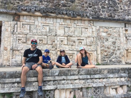 Uxmal with kids