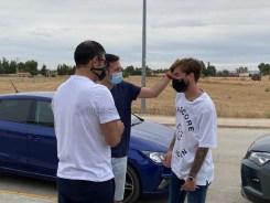 Imagen de esta mañana con Álvaro Jiménez en la Ciudad Deportiva. LUIS MARTÍNEZ / EsRadio Albacete