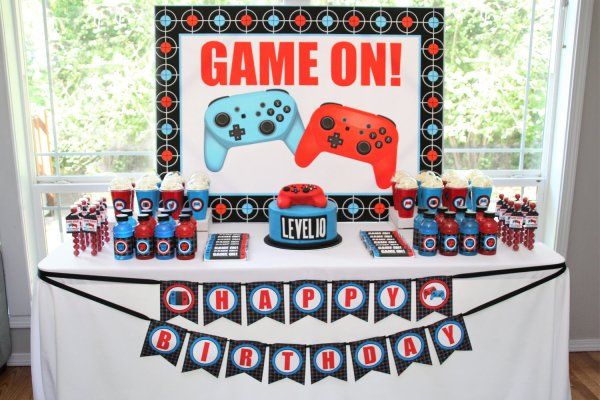 Video Game Birthday Party Printable Decorations – Editable ...
