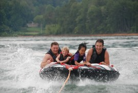 water tube riding