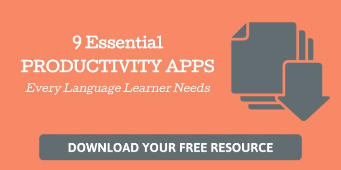 9 Essential Productivity Apps Every Language Learner Needs