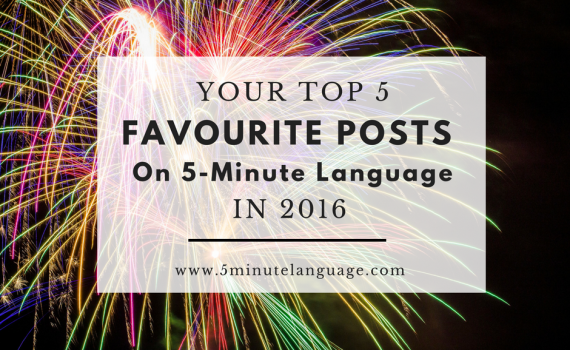 most popular on 5-minute language in 2016