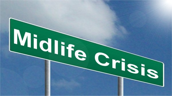 Sign saying 'mid-life crisis'