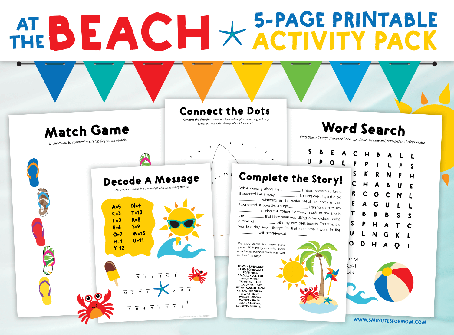 Best Free Printable Summer Word Search