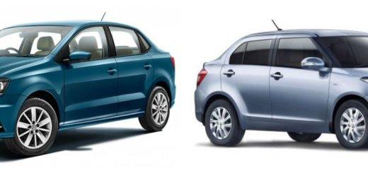 Volkswagen Ameo vs Maruti Suzuki Swift Dzire