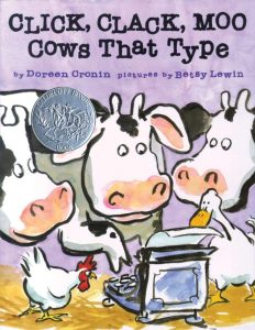 book cover Click, Clack, Moo Cows That Type (A Click Clack Book) by Doreen Cronin