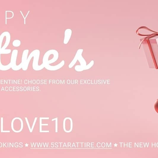 USE CODE: LOVE10 for 10% off any item on our website! Discount available till midnight tomorrow! HAPPY VALENTINES 💕 • Follow us at @5starattire & check out our website www.5starattire.com