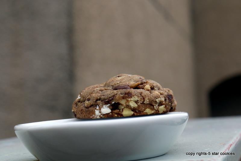 5 star cookies coffee cookies3