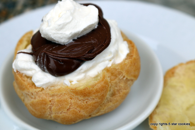 5 star cookies creampuffs cream Nutella Cream