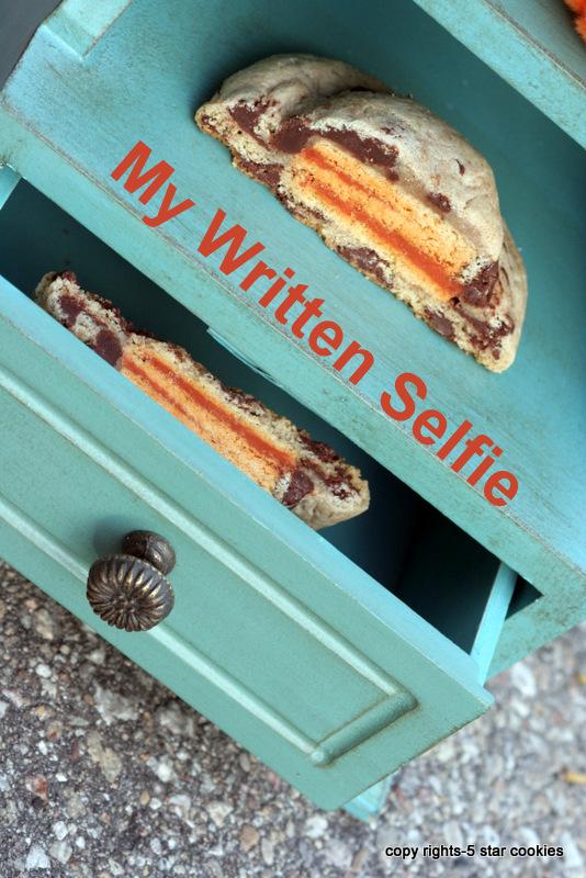 5 star cookies written selfie