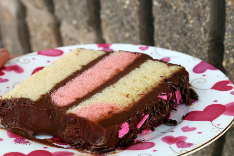 Pinky Love Cake of 5starcookies