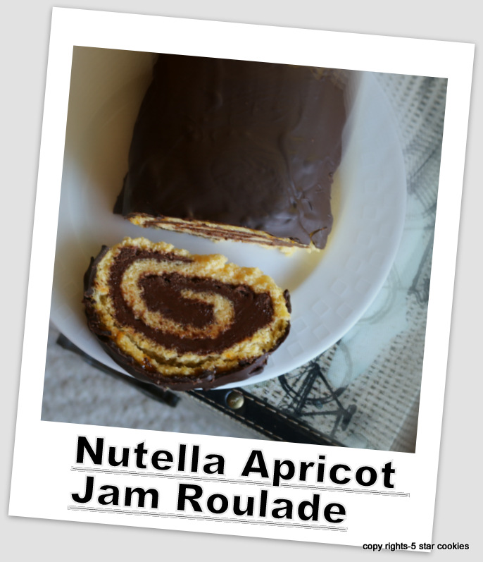 Nutella Apricot Jam Roulade from the best food blog 5 star cookies