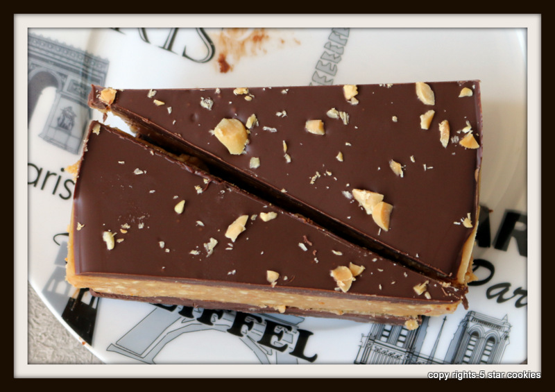 peanut butter and chocolate torte from food blog 5starcookies