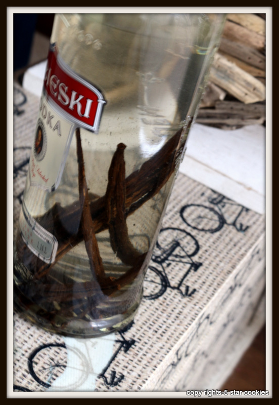 Homemade Vanilla Extract from the best food blog 5starcookies and your Cookie Day 1