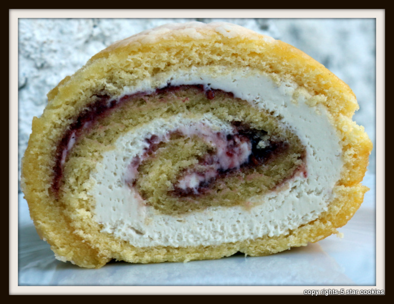 Raspberry Roulade from the best food blog 5starcookies and Cookies-Enjoy this Superb Cake