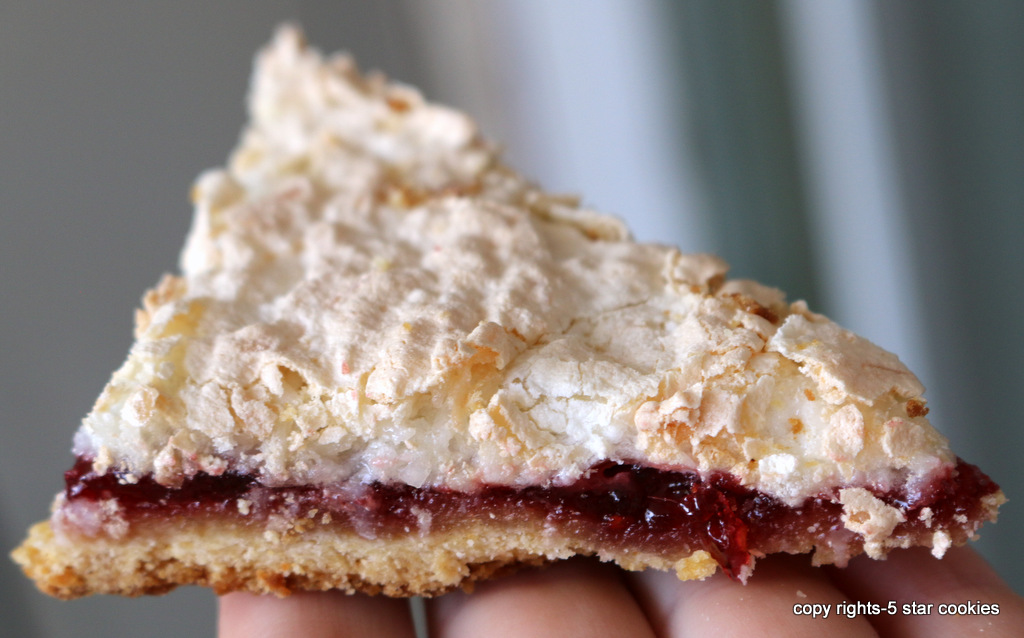 raspberry coconut squares from 5starcookies