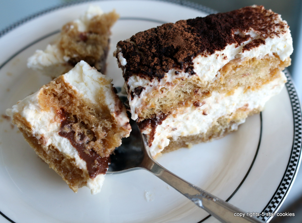 tiramisu from the best food blog 5starcookies-Cut into pieces and enjoy